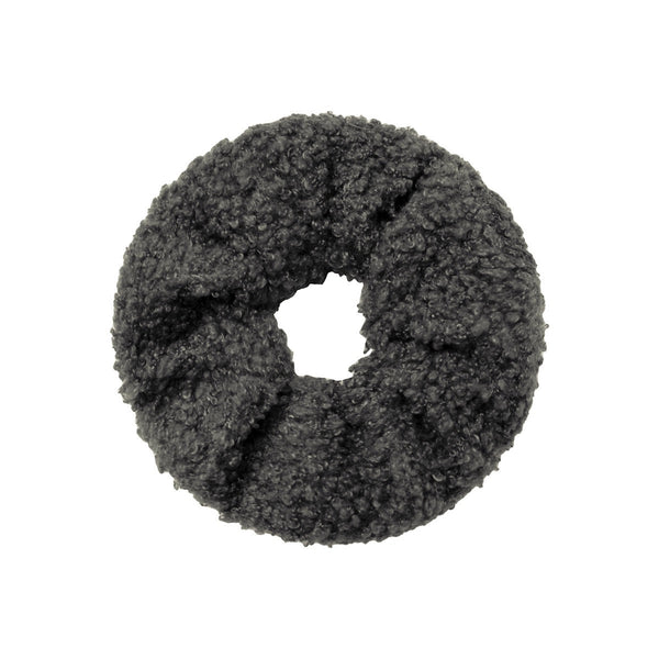 Teddy Scrunchie - Dark Grey
