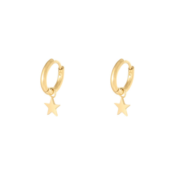 Mini Hoop Little Star Gold
