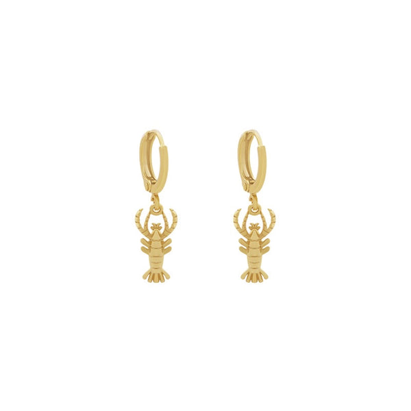 Mini Hoops Earrings - Lobster GOLD
