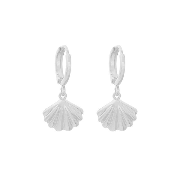 Mini Hoop Sea Shells - Silver