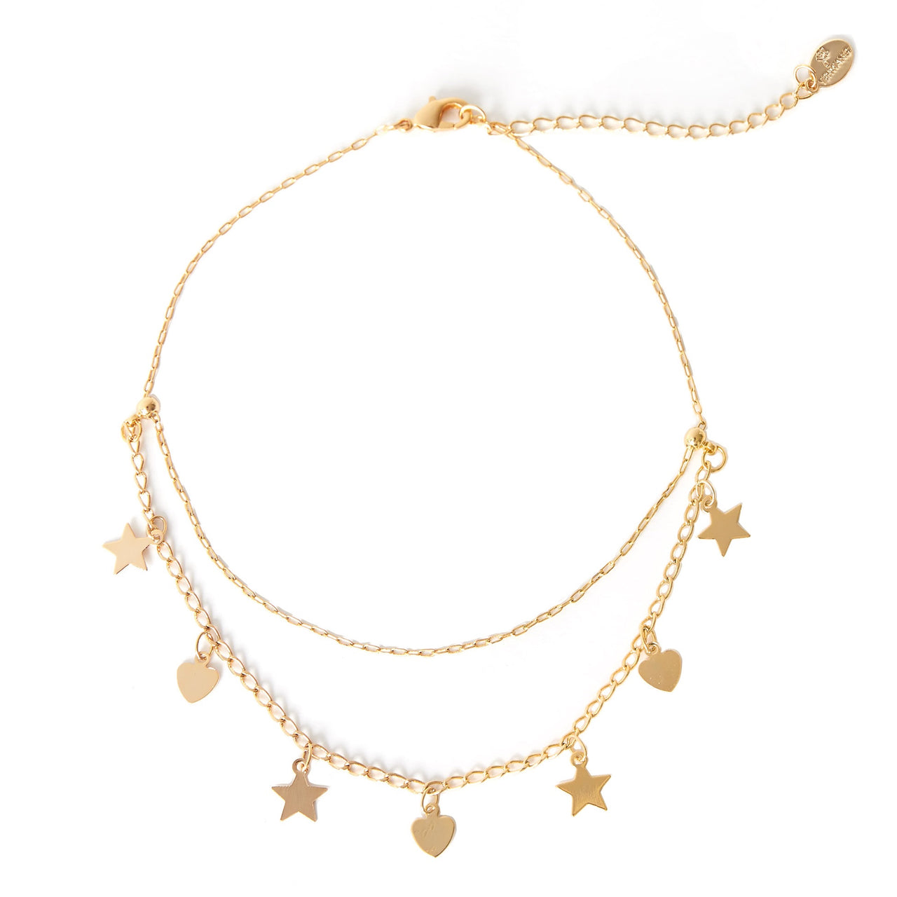 Love the Stars Anklet - Gold