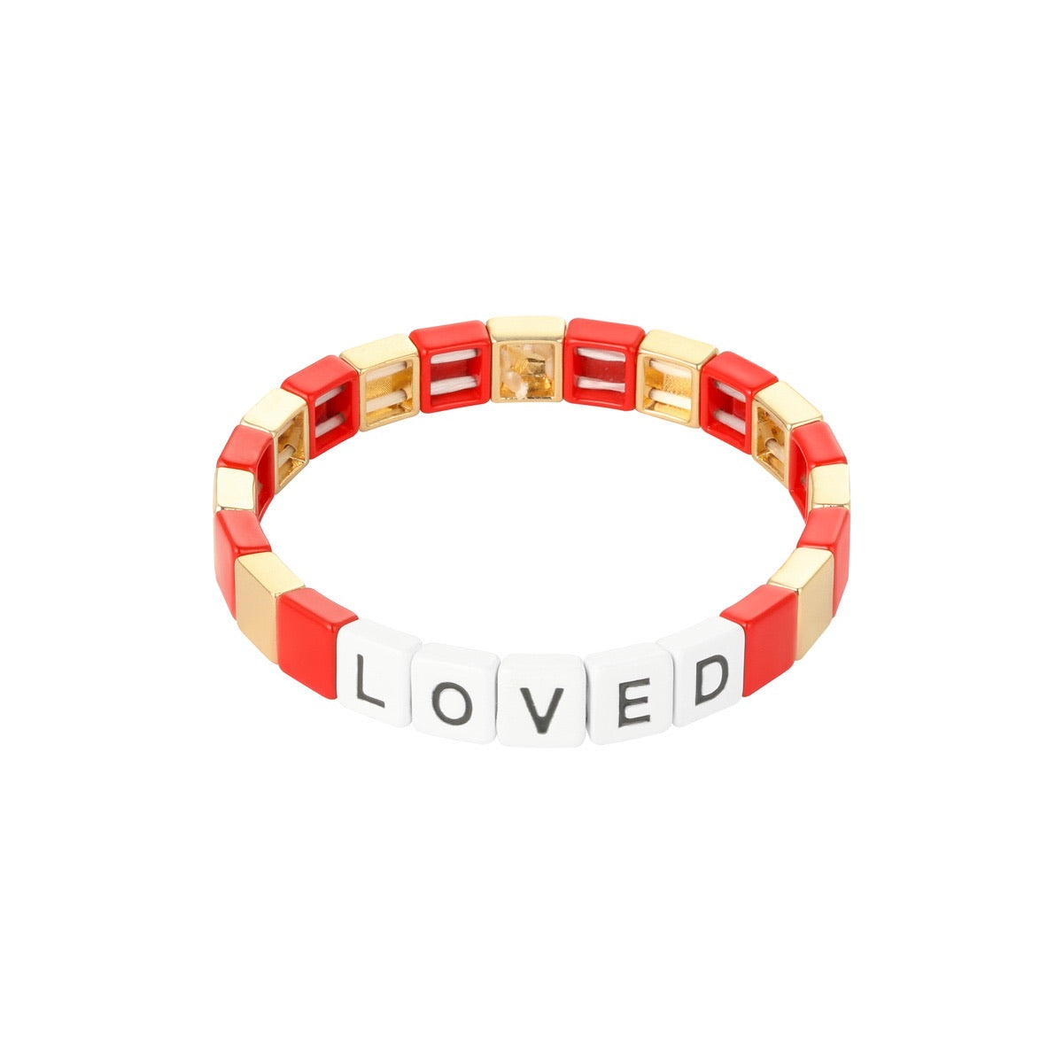 LOVED Bracelet Red and Gold