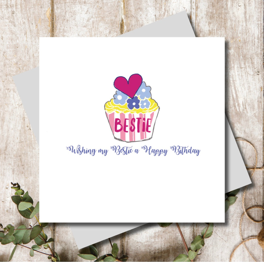 Bestie Cup Cake Birthday Card | Gift Pop Boutique