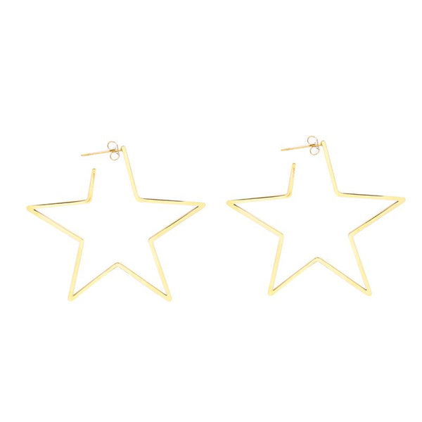 Mega Rock Star Earrings Gold | Gift Pop Boutique