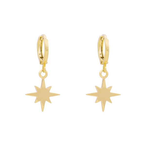 Mini Hoops Earrings - Universe Star Gold | Gift Pop Boutique