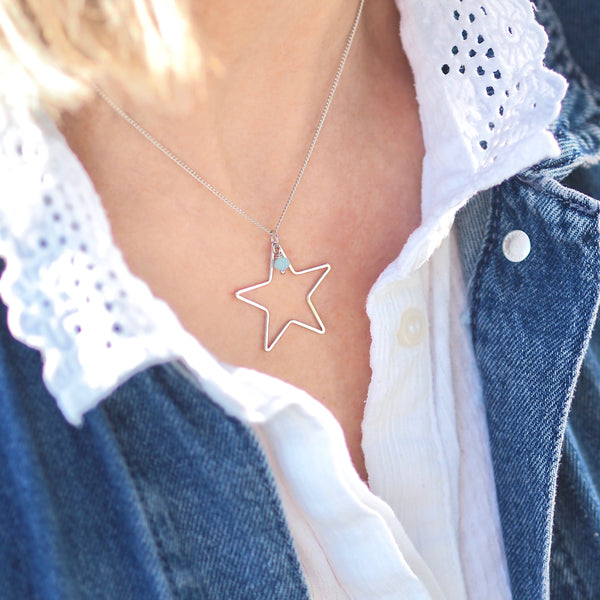 Summer Rockstar Necklace - Silver