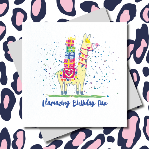 Llamazing Birthday Fun Card