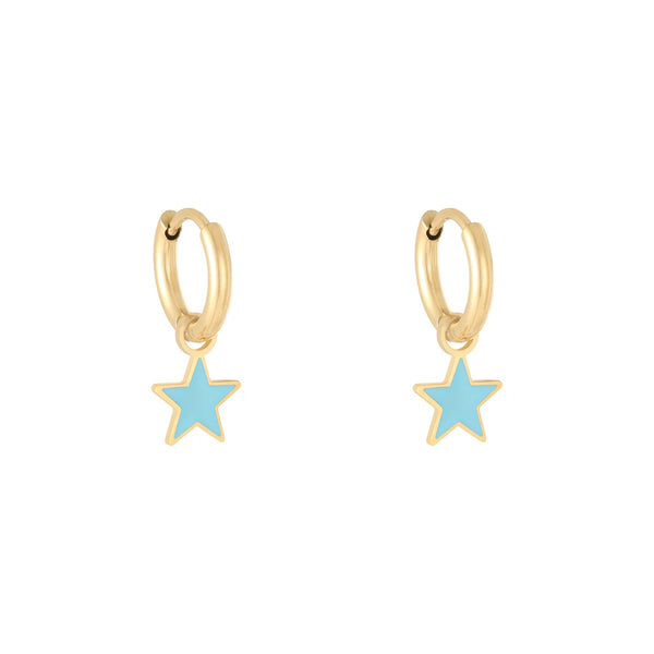 Mini Hoop Pastel Star Gold