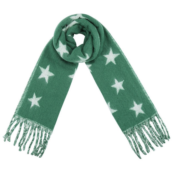 Seeing Stars Scarf GREEN | Gift Pop Boutique