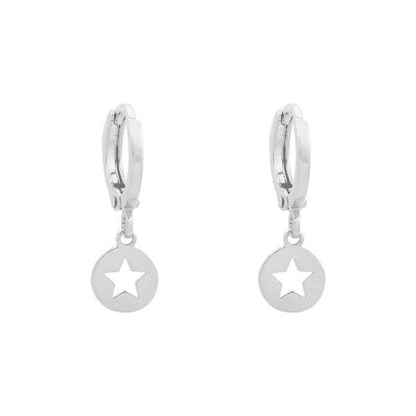 Mini Hoops Earrings - CATCH A STAR SILVER | Gift Pop Boutique