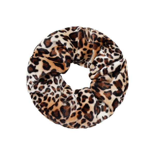 Velvet Scrunchie - Animal Print Natural