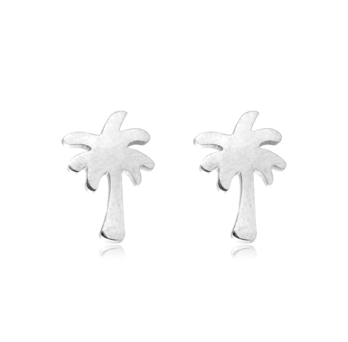 Palm Tree Studs SILVER | Gift Pop Boutique