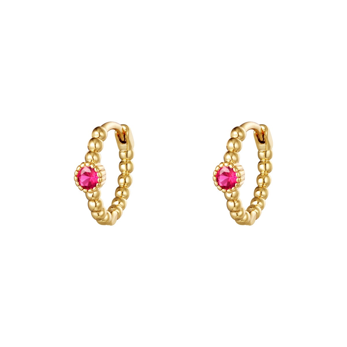 Lockdown Sparkle Mini Hoops - Gold/ Pink