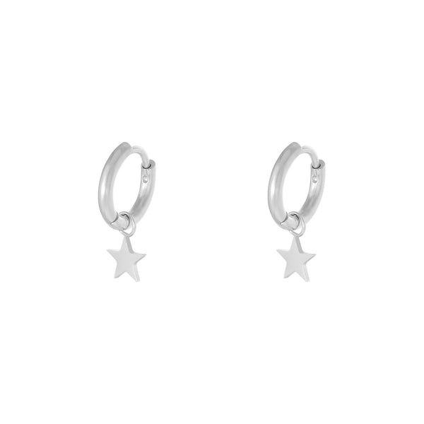 Mini Hoop Little Star Silver