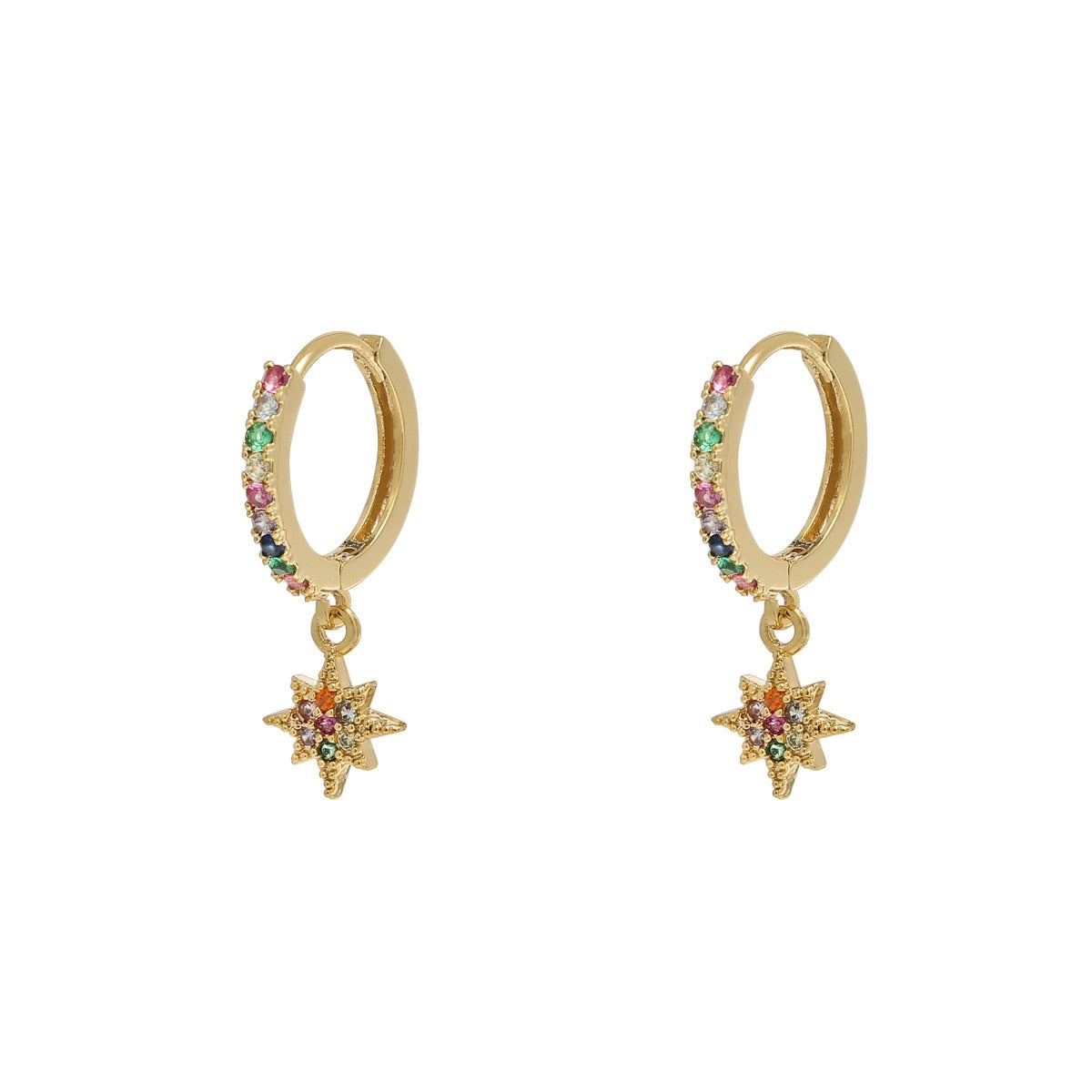 Mini Hoops Earrings - Zirconia Star | Gift Pop Boutique