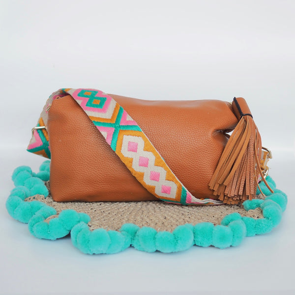 Aztec Strap - Pink Green Orange
