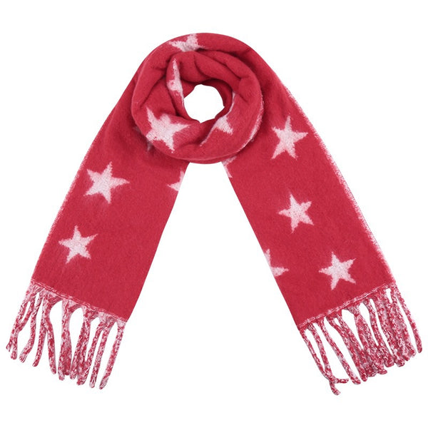 Seeing Stars Scarf RED | Gift Pop Boutique