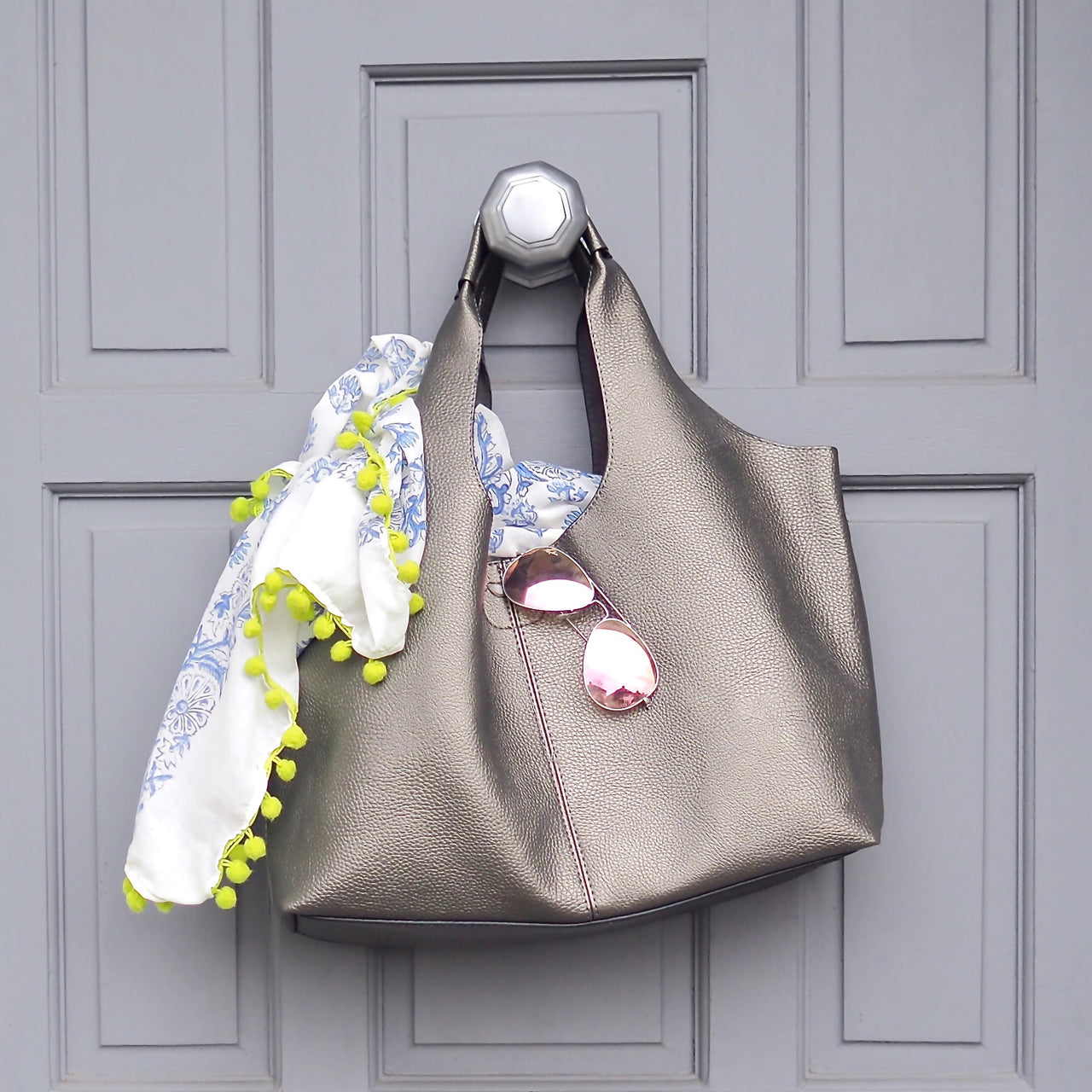 Pewter Grey Tote | Gift Pop Boutique