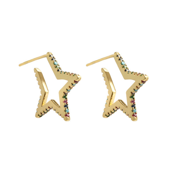 Super Star Earrings Gold