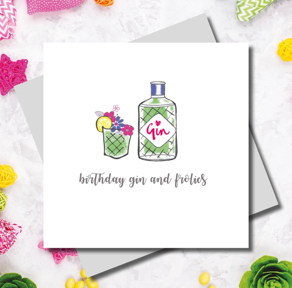 Gin and Frolics Birthday Card | Gift Pop Boutique