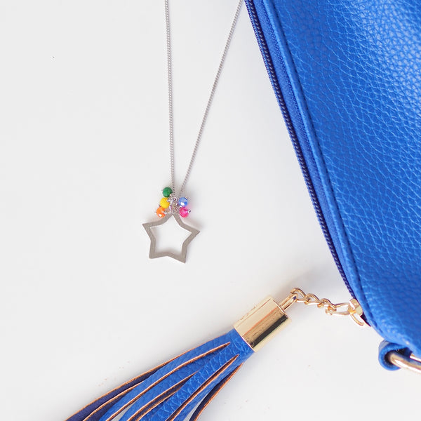 Rainbow Rock Star Necklace - Silver