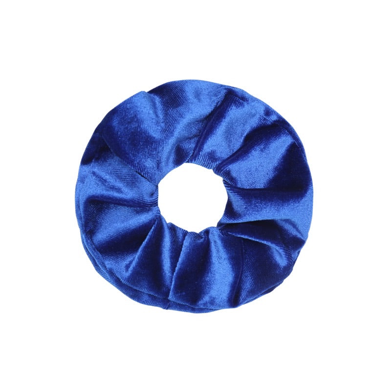 Velvet Scrunchie - Bright Blue