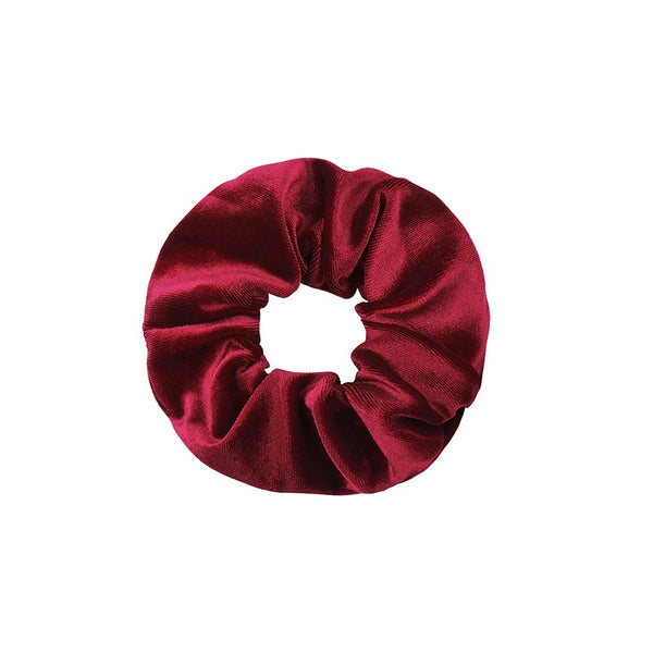 Velvet Scrunchie - Deep Red