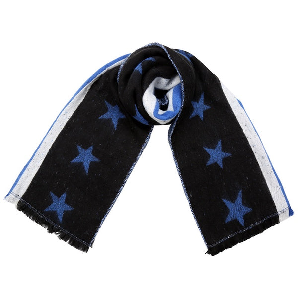 Starry Scarf - Black & Blue
