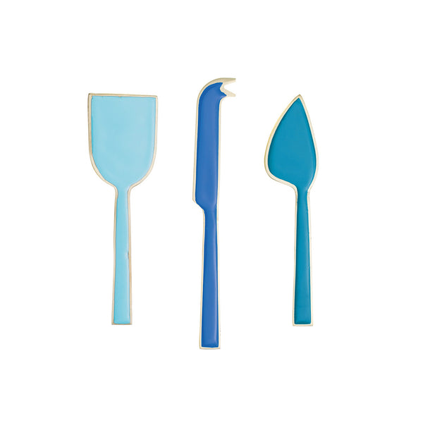Agnes Enamel Cheese Knives Set - Colourful Trio