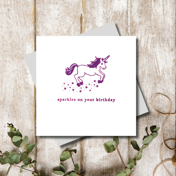 Sparkles on your Birthday Card