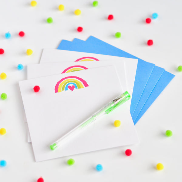 Pack of 10 Blank Rainbow Cards