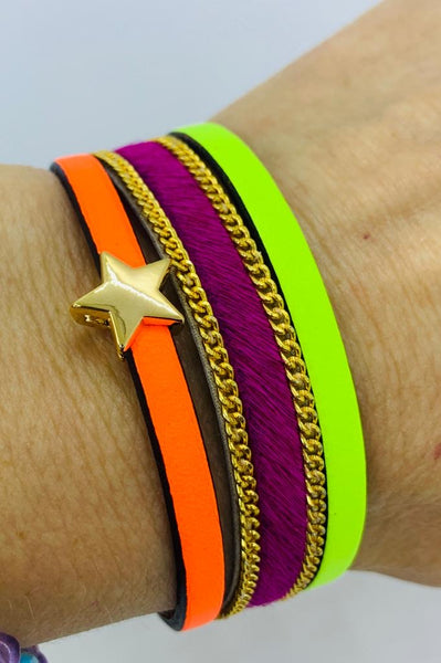 Orange Crush Star Cuff