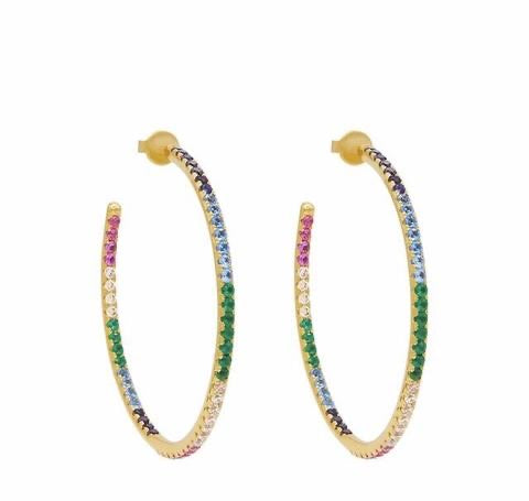 Rainbow Hoops - Gold XL