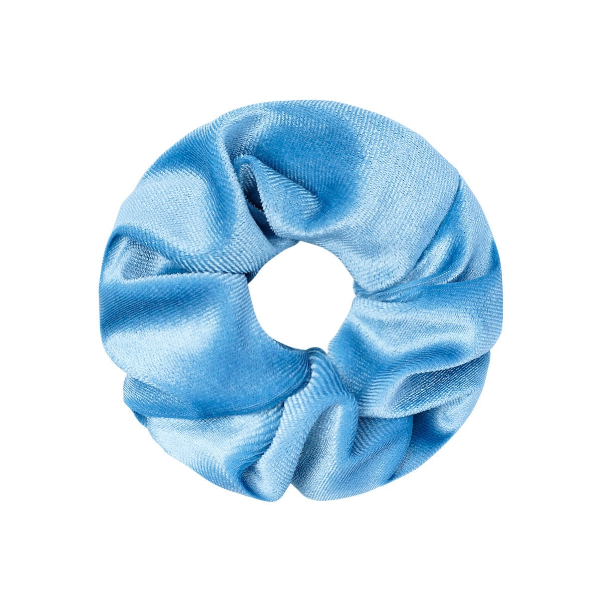 Velvet Scrunchie - Light Blue