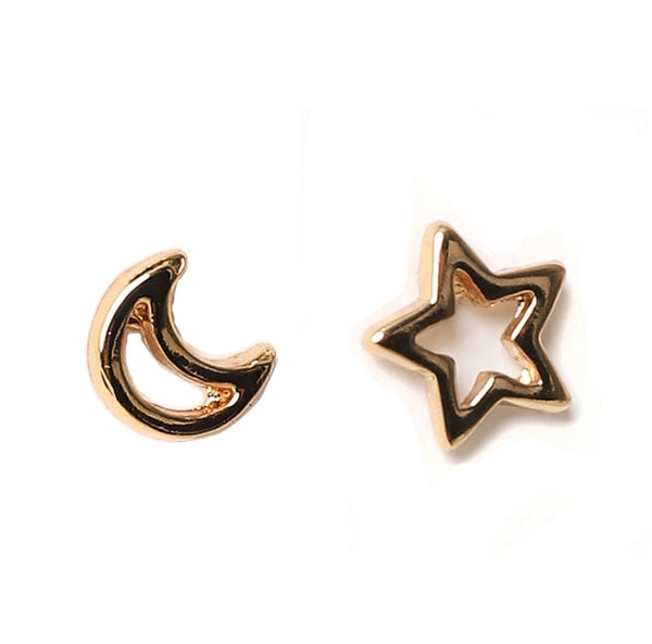 Moon and Star Studs GOLD | Gift Pop Boutique