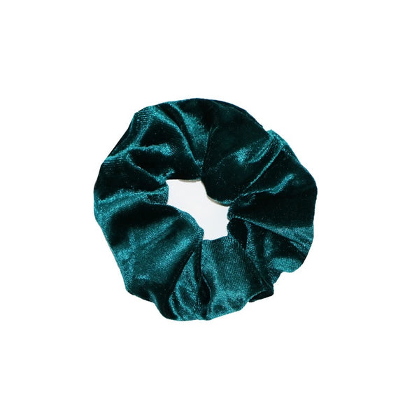 Velvet Scrunchie - Winter Green