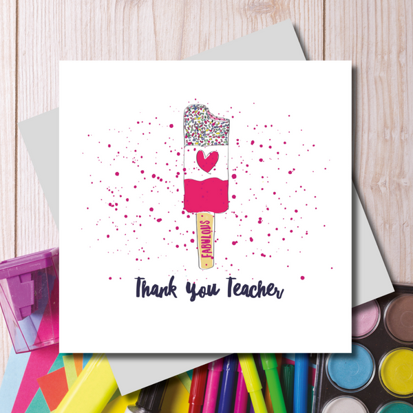Thank You Teacher Card | Gift Pop Boutique