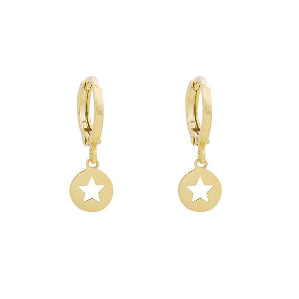 Mini Hoops Earrings - CATCH A STAR GOLD | Gift Pop Boutique