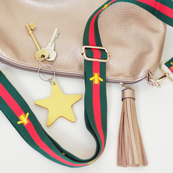 Green & Red Bee Strap | Gift Pop Boutique