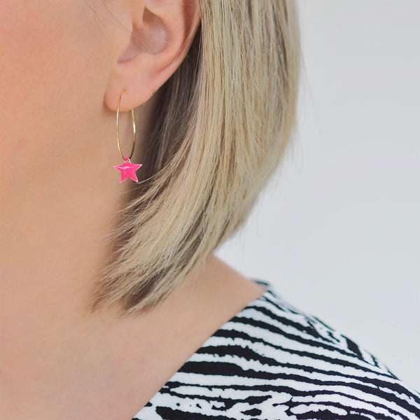 Think Pink - Star Earrings | Gift Pop Boutique