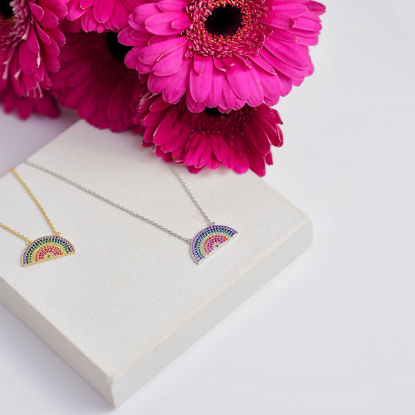 Rainbow Necklace - Silver | Gift Pop Boutique