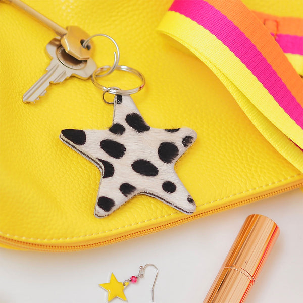 Star Keyring Dalmation Print | Gift Pop Boutique