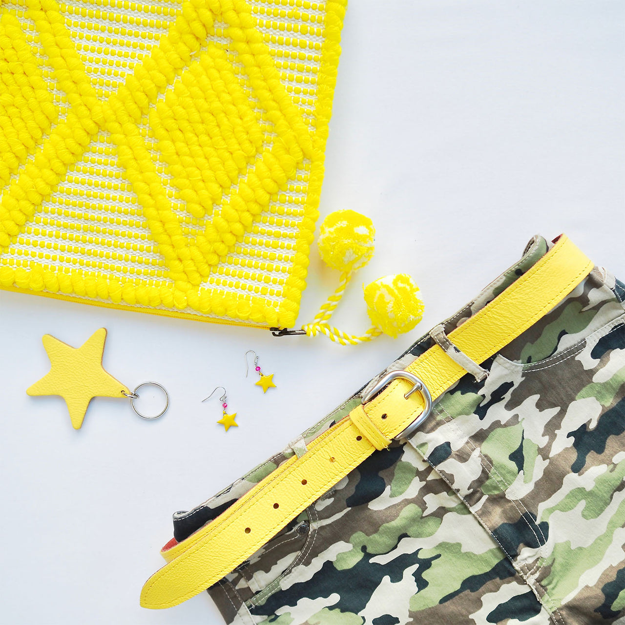 Yellow Star Keyring | Gift Pop Boutique