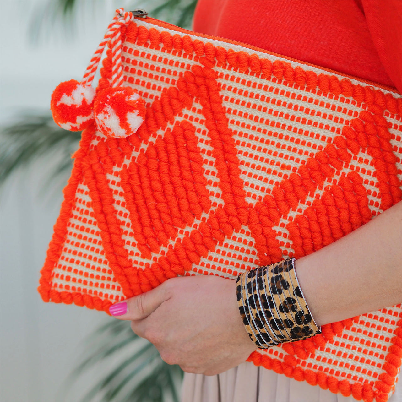 Bhavy Clutch - Bright Orange | Gift Pop Boutique