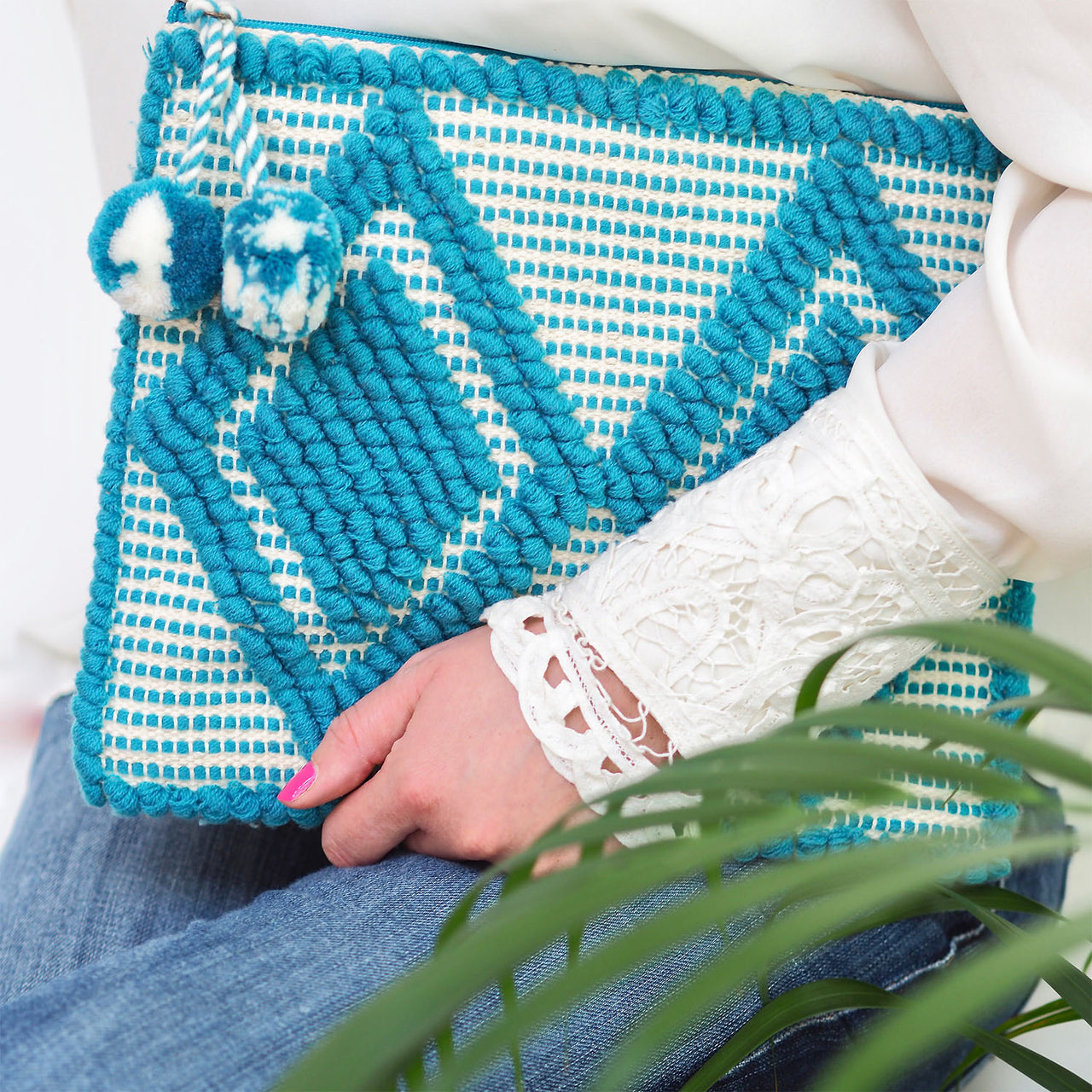 Bhavy Clutch - Sky Blue | Gift Pop Boutique