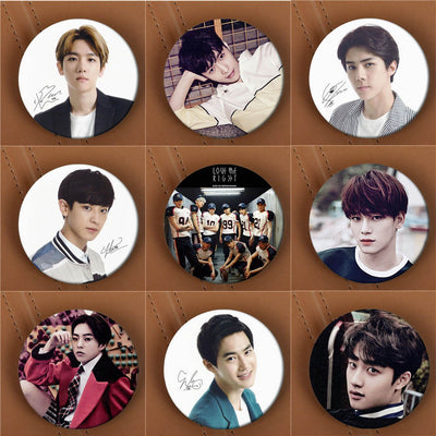 EXO Love Me Right Album Brooch Pins
