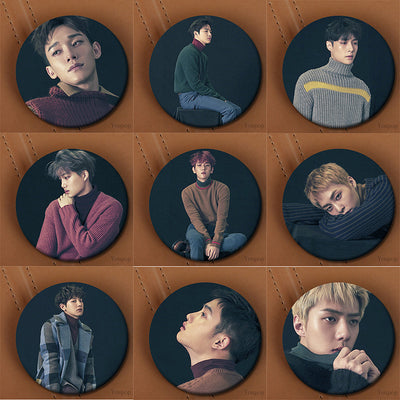 EXO Winter Album Brooch Pins