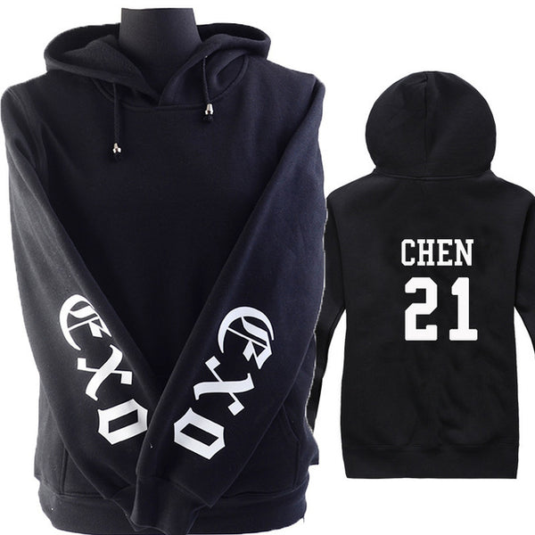 (All BIAS Names) EXO Black Hoodie