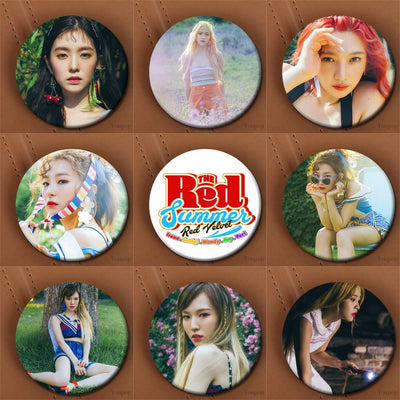Red Velvet Brooch Pins Irene Yeri Wendy Joy Seulgi Mega K-Pop