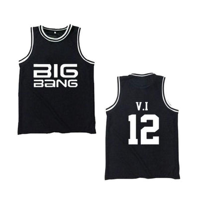 Big Bang BIGBANG T.O.P G-Dragon D-Lite SOL V.I Black Jersey